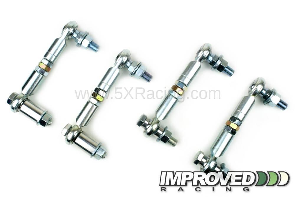 Improved Racing Adjustable Sway Bar End Link Kit for 1990