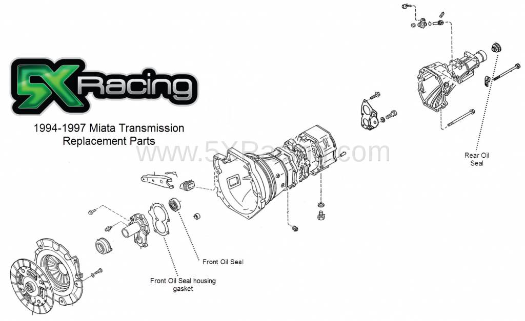 Fine Mazda Oem 94 97 Miata Transmission Replacement Parts Wiring Database Ittabxeroyuccorg