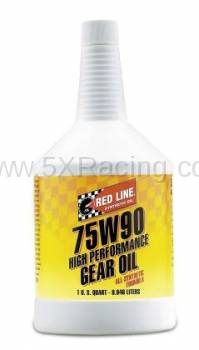 Red Line Synthetic Oil - Red Line 75W90 GL-5 Gear Oil - 1 quart