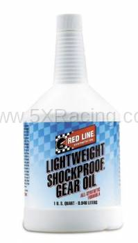 Red Line Synthetic Oil - Red Line LightWeight ShockProof Gear Oil - 1 quart