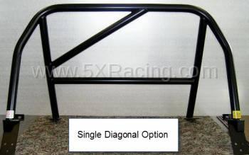 Hard Dog Fabrication - Hard Dog M2 Sport Single Diagonal Miata Roll Bar