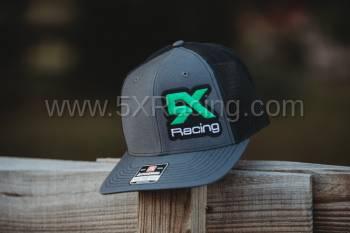 5X Racing Trucker Hat charcoal/black/full color