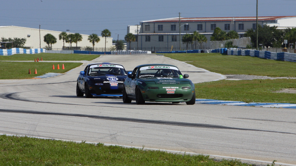 John Adamczyk and Jim Blaisdell at Sebring