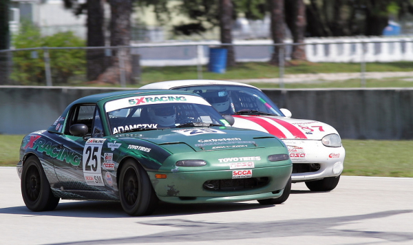 John Adamczyk and Selin Rollan at Sebring