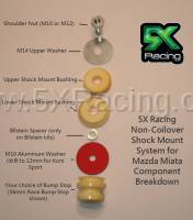 5X Racing - Anodized M10 Red Aluminum Washer - Image 2
