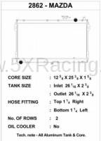 CSF 42mm Two Row Racing Radiator for 1990-1997 Mazda Miata