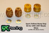 NA Miata Suspension and Steering - NA Miata Bump Stops and Shock Mounting Hardware - 5X Racing - 5X Racing Sport Bump Stop Kits for 1990-1997 Miata