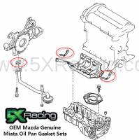NB Miata Engine and Accessory Drive - NB Miata Engine Block and Rotating Assembly - Mazda OEM Parts and Accessories - Mazda OEM Miata Oil Pan Gasket Sets