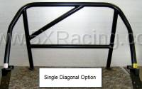 Hard Dog Fabrication - Hard Dog M1 Hard Core Hardtop Single Diagonal Miata Roll Bar