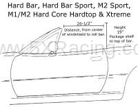 Hard Dog Fabrication - Hard Dog M1 Hard Core Hardtop Single Diagonal Miata Roll Bar - Image 2