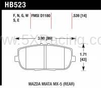 Hawk DTC-60 Rear Brake Pads for Mazda MX-5