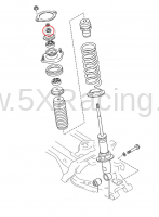 Mazda Miata NB OEM Parts - NB Miata Suspension - Mazda OEM Parts and Accessories - Mazda OEM NB Miata Shock Flange Nut