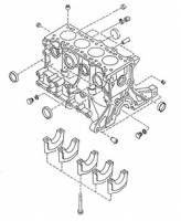 Mazda Miata NA OEM Parts - NA Miata Engine and Accessory Drive - NA Miata Engine Block and Rotating Assembly