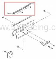 Mazda OEM Parts and Accessories - Mazda OEM Right Outer Door Window Trim for 90-97 Miata - Image 2