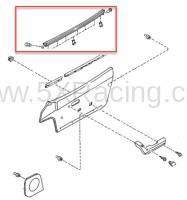 Mazda OEM Parts and Accessories - Mazda OEM Left Outer Door Window Trim for 90-97 Miata - Image 2