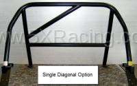 1990-1997 NA Miata Aftermarket Parts - NA Miata Roll Bars and Braces - Hard Dog Fabrication - Hard Dog M1 Sport Single Diagonal Miata Roll Bar